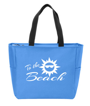 To The Beach 2 Canvas Tote Bag