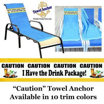 "Towel Anchor - ""Caution 2"