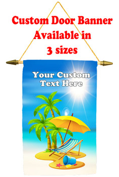 Cruise Ship Door Banner -  available in 3 sizes.      Beach Chair Design 2