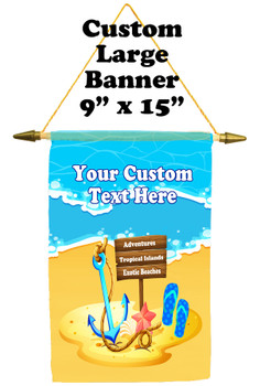 Cruise Ship Door Banner -  available in 3 sizes.      Island