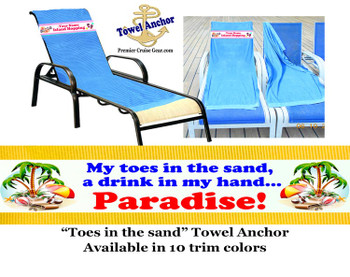 Towel Anchor - Toes in the sand