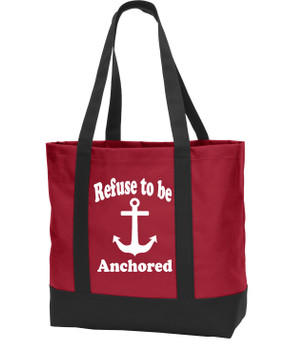 Poly Canvas Tote Bag - refuse to be anchored
