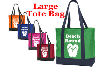 Poly Canvas Tote Bag - beach bound