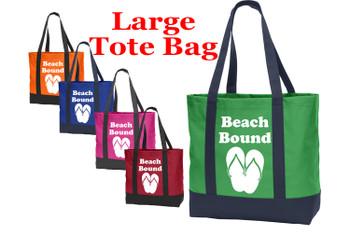 Poly Canvas Tote Bag - beach bound
