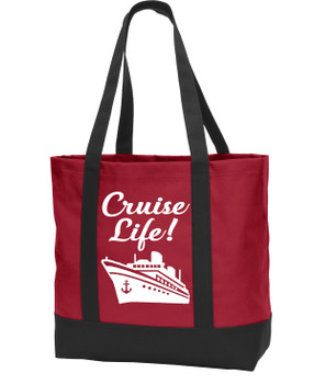 Poly Canvas Tote Bag -cruise life