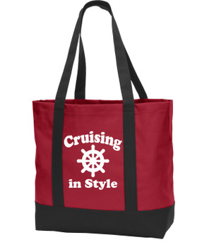 Poly Canvas Tote Bag -in style