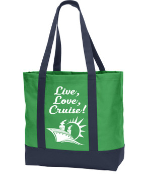Poly Canvas Tote Bag -live, love, cruise
