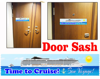 Cruise cabin door sash - 001