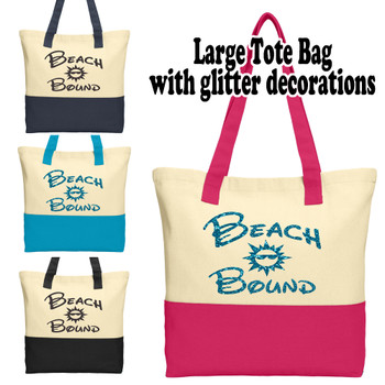 Cruise and Beach Tote Bag - Beach Bound 001