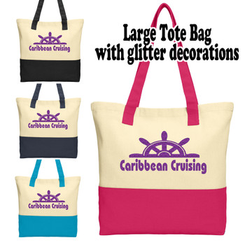 Cruise and Beach Tote Bag - Caribbean Cruising