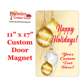 """Cruise Ship Door Magnet - Extra large 11"""" x 17"""" - Holiday 001"""