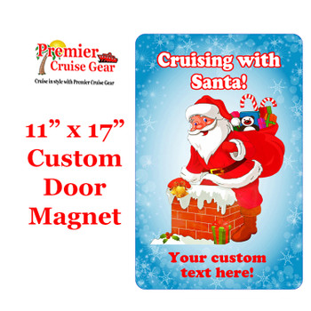 """Cruise Ship Door Magnet - Extra large 11"""" x 17"""" - Holiday 002"""