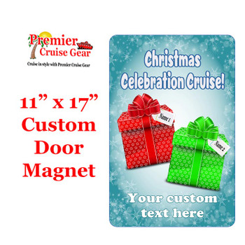 """Cruise Ship Door Magnet - Extra large 11"""" x 17"""" - Holiday 003"""