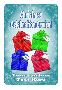 """Cruise Ship Door Magnet - Extra large 11"""" x 17"""" - Holiday 004"""