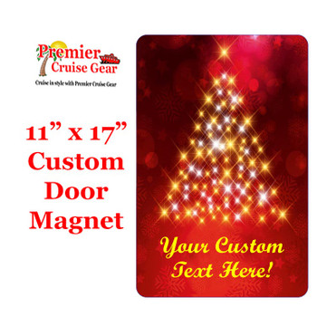 """Cruise Ship Door Magnet - Extra large 11"""" x 17"""" - Holiday 006"""