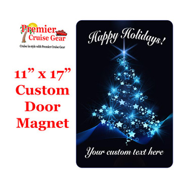 """Cruise Ship Door Magnet - Extra large 11"""" x 17"""" - Holiday 007"""