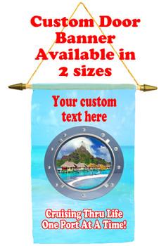 Cruise Ship Door Banner - porthole 2