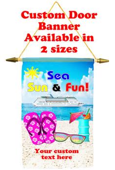 Cruise Ship Door Banner - sea sun fun