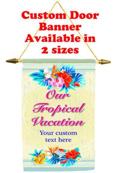 Cruise Ship Door Banner - tropical