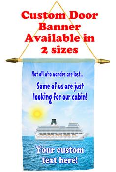 Cruise Ship Door Banner - wander 2