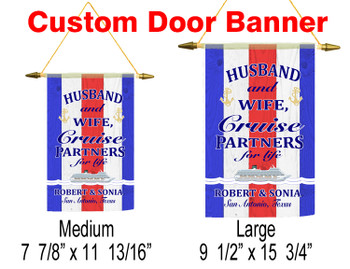 Cruise Ship Door Banner - rwb