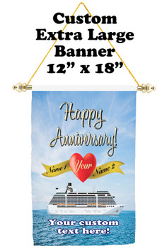 Cruise Ship Door Banner - Extra-Large Banner - Anniversary 2
