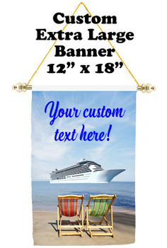 Cruise Ship Door Banner - Extra-Large Banner - Beach Chairs