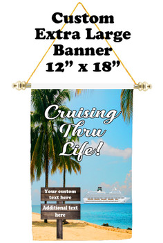 Cruise Ship Door Banner - Extra-Large Banner - Cruising thru Life 2