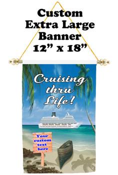 Cruise Ship Door Banner - Extra-Large Banner - Cruising thru Life 3