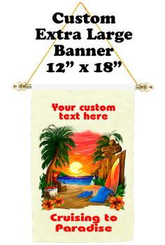 Cruise Ship Door Banner - Extra-Large Banner - Cruising to Paradise