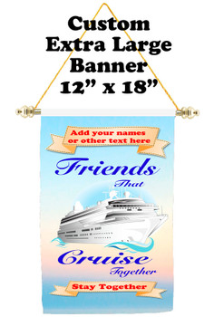 Cruise Ship Door Banner - Extra-Large Banner  Friends