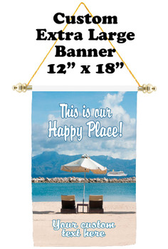 Cruise Ship Door Banner - Extra-Large Banner - Happy Place