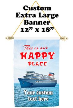 Cruise Ship Door Banner - Extra-Large Banner - Happy Place 2