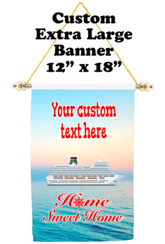Cruise Ship Door Banner - Extra-Large Banner - Home Sweet Home