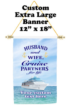 Cruise Ship Door Banner - Extra-Large Banner - Husband & Wife 1