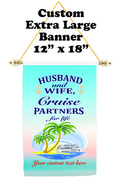 Cruise Ship Door Banner - Extra-Large Banner - Husband & Wife 2