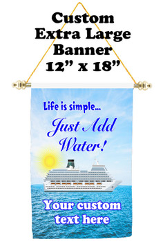 Cruise Ship Door Banner - Extra-Large Banner - Life is Simple 1