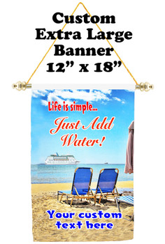 Cruise Ship Door Banner - Extra-Large Banner - Life is Simple 2