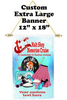 Cruise Ship Door Banner - Extra-Large Banner - Malt Shop 1
