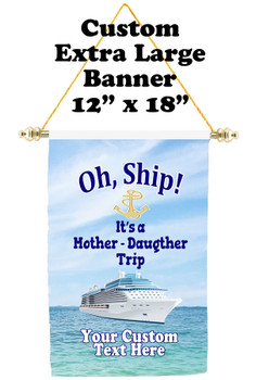 Cruise Ship Door Banner - Extra-Large Banner - Mother Daughter