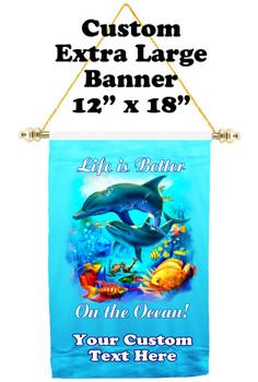 Cruise Ship Door Banner - Extra-Large Banner - ocean