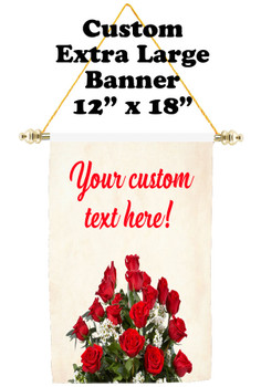 Cruise Ship Door Banner - Extra-Large Banner - roses 2