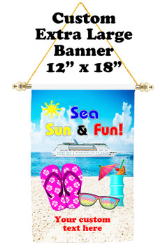 Cruise Ship Door Banner - Extra-Large Banner - sea sun fun