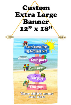 Cruise Ship Door Banner - Extra-Large Banner - sign post