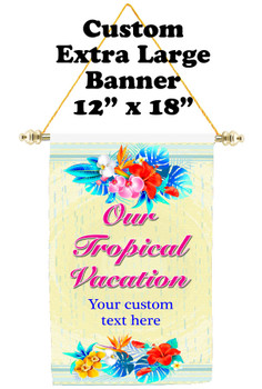 Cruise Ship Door Banner - Extra-Large Banner - tropical
