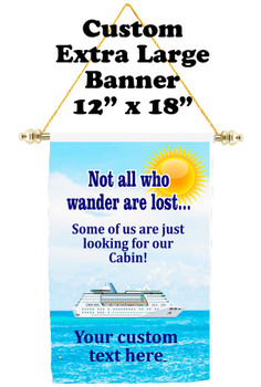 Cruise Ship Door Banner - Extra-Large Banner - wander 1