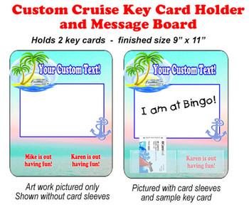 Door Key Card Holder Magnet - Holds 2 cards