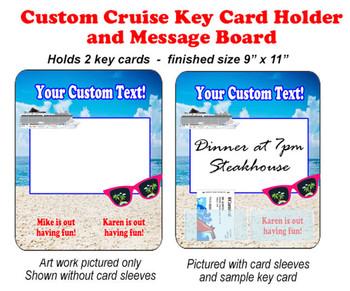 Door Key Card Holder Magnet - Holds 2 cards.  (002)