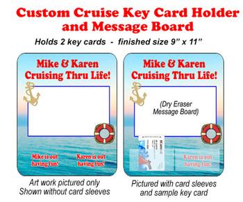 Door Key Card Holder Magnet - Holds 2 cards.  (004)