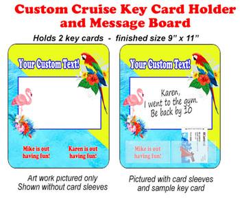 Door Key Card Holder Magnet - Holds 2 cards.  (005)